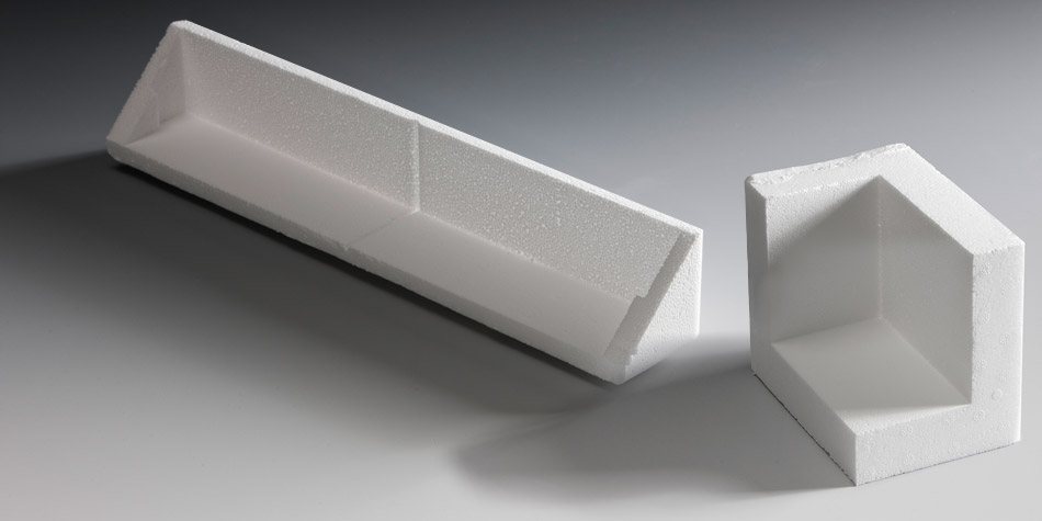 verpackungsecken verpackungsdoppelecken aus styropor. Black Bedroom Furniture Sets. Home Design Ideas